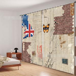 3D Graffiti 5 Cortinas de impresión de cortina de foto Blockout Tela Cortinas Ventana au