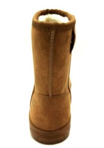Flash Lights Girls Faux Sherpa Lined Sueded Rechargeable Light Up Boots 13 1 3 4