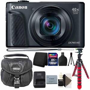 Canon-PowerShot-SX740-HS-Wi-Fi-Digital-Camera-Nero-con-Accessorio-PRO-Bundle