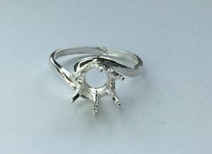 4 14mm sterling silver crescent resized pre notched ring