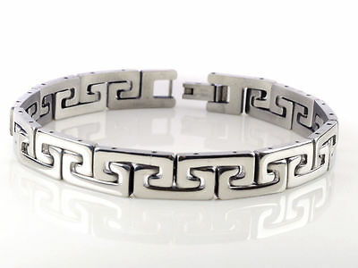 New Silver Men's Punk Cool Stainless Steel Chain Bracelet Link Bangle Wristband
