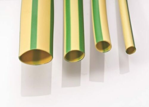 Green Yellow Electrical Earth Sleeving PVC 2mm 3mm /& 4mm Cut Lengths