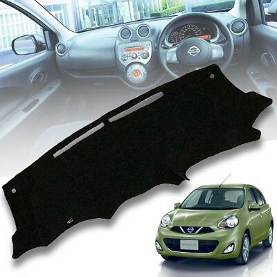 KHnasd Polyester Non-Slip Car Dashboard Cover Dash Mat,for Nissan March Micra 2010 to 2015 Years Left Hand Drive