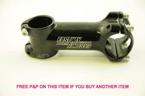 50/% EASTWAY RACE 6061 ALLOY ULTRA-LIGHT AHEAD HANDLEBAR STEM 90mm GLOSS BLACK