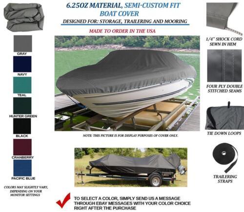 """Aluminum V-Hull Fishing Boat Trailerable Cover 15/'9/""""-16/'9/"""" 82/"""" Beam Motor Hood"""