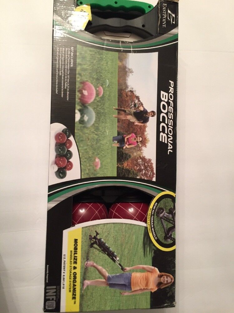 Eastpoint Tournament Bocce Set with Carrier New In Box MSRP
