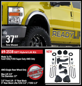 """ReadyLift SST Lift Kit 08-10 F250/350 Super Duty 4WD 3.5"""" F/1.0-3.0"""" R 69-2538"""
