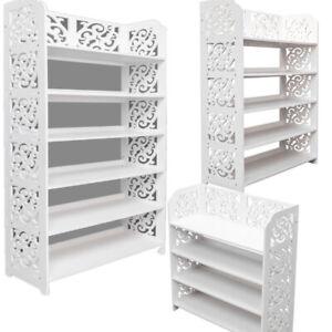 4-5-6-Tier-Shoe-Tower-Rack-Organizer-Standing-Shelf-Cabinet-Space-Saving-US