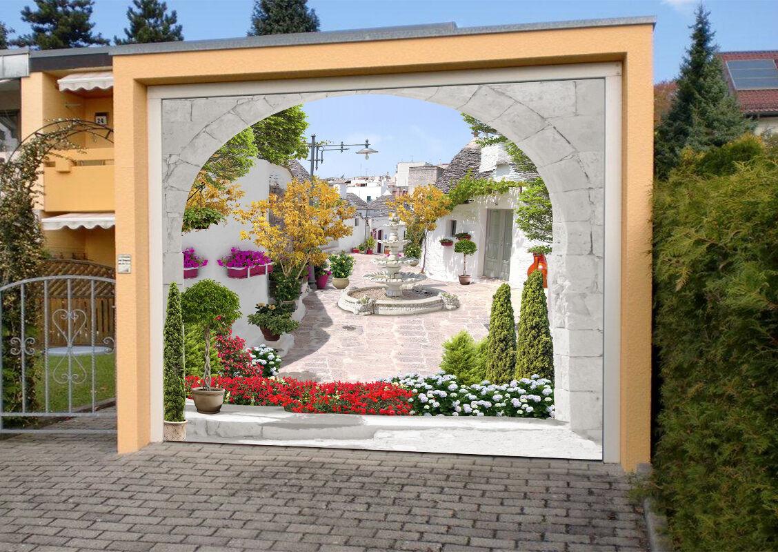 3D Weiß houses 43 Garage Door Murals Wall Print Decal Wall Deco AJ WALLPAPER AU