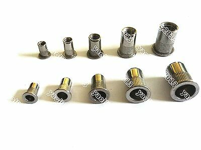 20pc Metric Stainless Steel Blind Insert Rivet Nut Rivnut M3 M4 M5 M6 M8 M10 M12