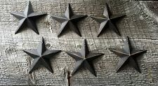 Primitive Metal Barn Stars Black 3.5 inch Set of 6