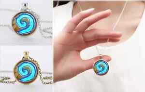 Silver-bronze-Wow-World-Of-Warcraft-hearthstone-cupula-de-cristal-colgante-collar
