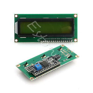 Interface-1602-Serial-Character-LCD-Module-Display-Yellow-Green-IIC-I2C-SPI-TWI