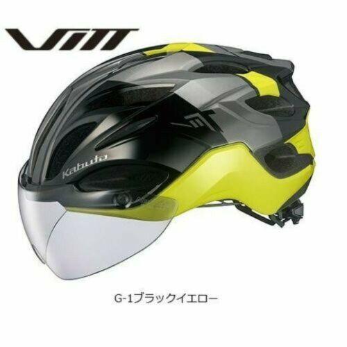 OGK KABUTO Helmet VITT G-1 Black Yellow S//M L  XL//XXL Size 3 Size With Tracking