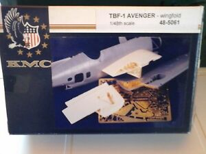 TBF-1-AVENGER-WINGFOLD-1-48-SCALE-KMC-ACCESSORIES-RESIN-PARTS-PHOTOETCHED