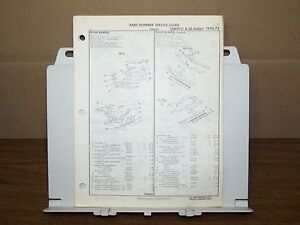 1970-1971-1972-PONTIAC-LEMANS-TEMPEST-GTO-FACTORY-PART-NUMBER-LIST