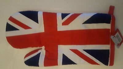 Vintage Union Jack Double Oven GlovesLayered CottonHeat ResistingFlag