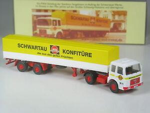 Wiking-Sondermodell-C-amp-I-Exclusiv-MAN-Sattelzug-Schwartauer-Konfituere-Sengelmann