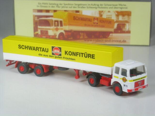 Wiking Sondermodell C&I Exclusiv MAN Sattelzug Schwartauer Konfitüre Sengelmann