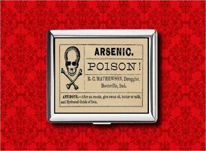 Image Is Loading ARSENIC POISON VINTAGE MEDICINE LABEL METAL WALLET CARD