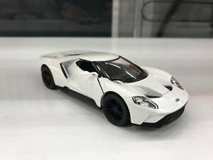 Image Is Loading  Ford Gt White Car Model Kinsmart Toy