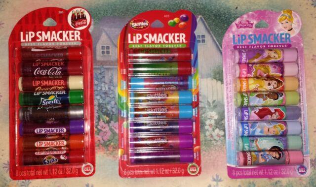 Lip Smacker Skittles, Coca-Cola, Skittles, Or Disney Party Packs YOU CHOOSE