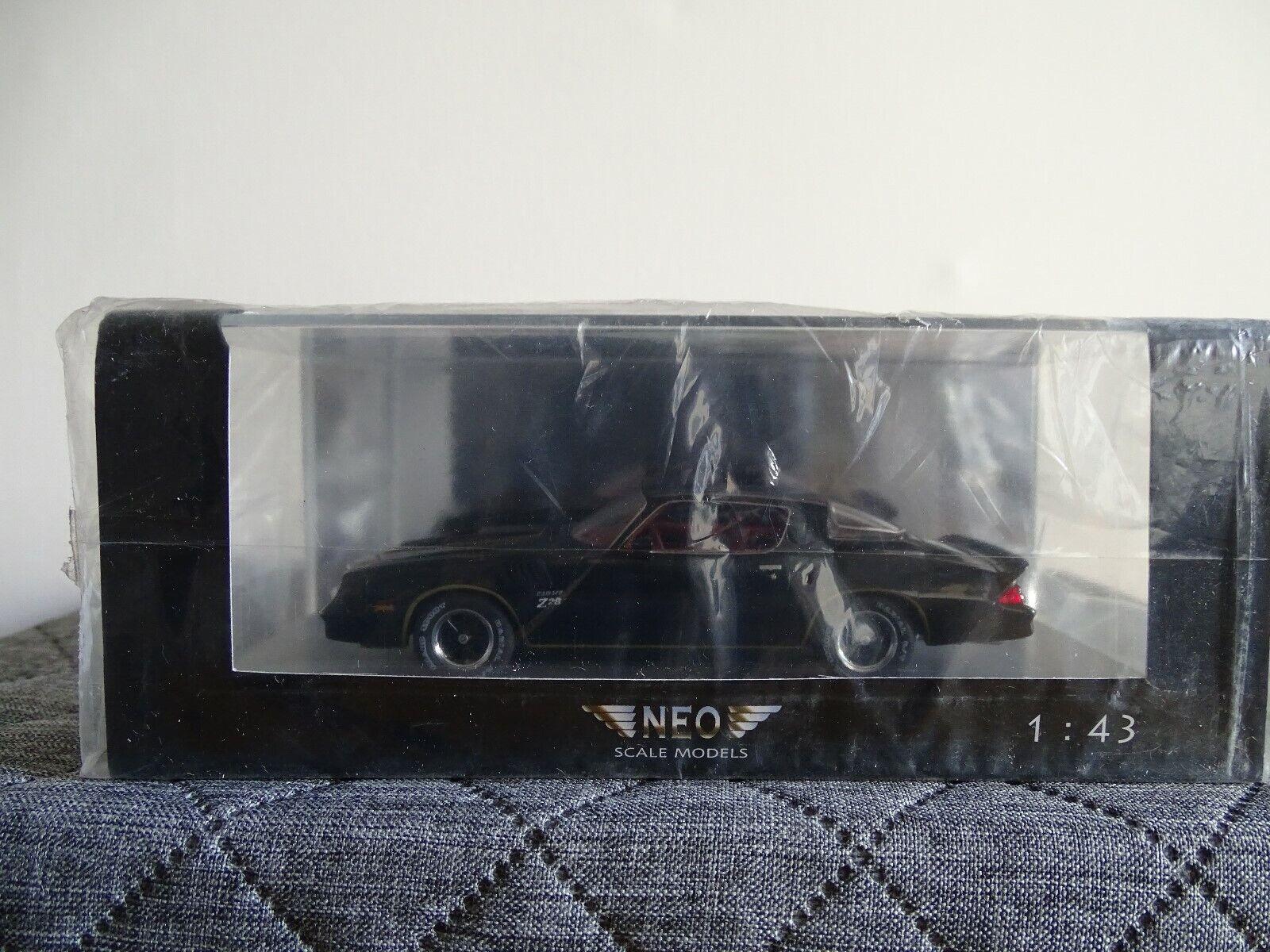 1 43 neo  44126 Chevrolet Camaro z28 negro nuevo en el embalaje original