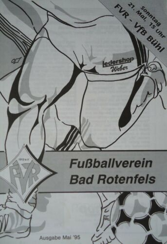 VfB Bühl Programm 1994//95 FV Bad Rotenfels
