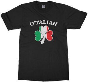 O/'Talian Italian Irish Shamrock Unisex Sweatshirt Italy Flag