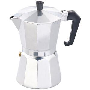 espresso kocher f r 6 tassen f r gas elektro herd und ceran feld ebay. Black Bedroom Furniture Sets. Home Design Ideas