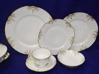 Haviland Limoges Chf1327 Schleiger Blank 361 White Gold 49 Pc Dinnerware Set