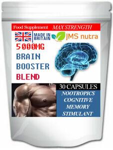 Potenza-del-cervello-Misto-5000mg-i-nootropi-Cognitive-Memoria-FOCUS-Enhancer-Pillole