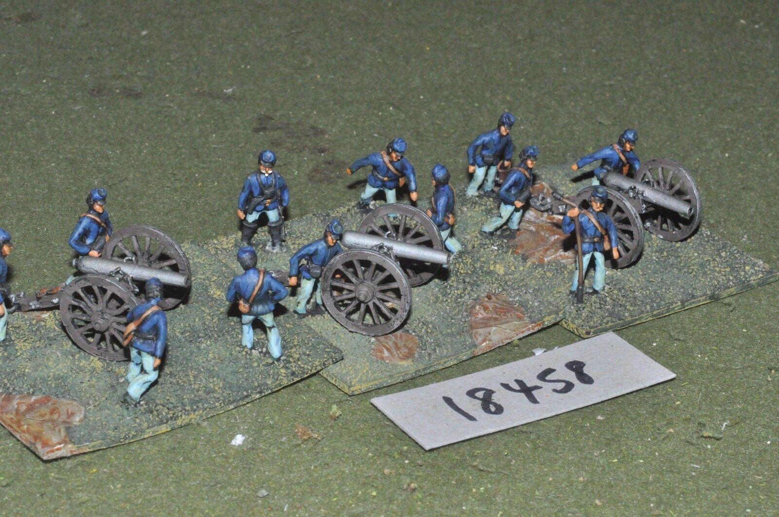 25mm ACW   union - american civil war artillery 3 guns & crews - art (18458)