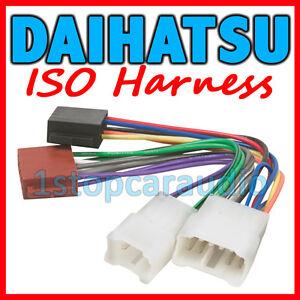 daihatsu iso wiring harness adaptor connector lead plug charade rh ebay com