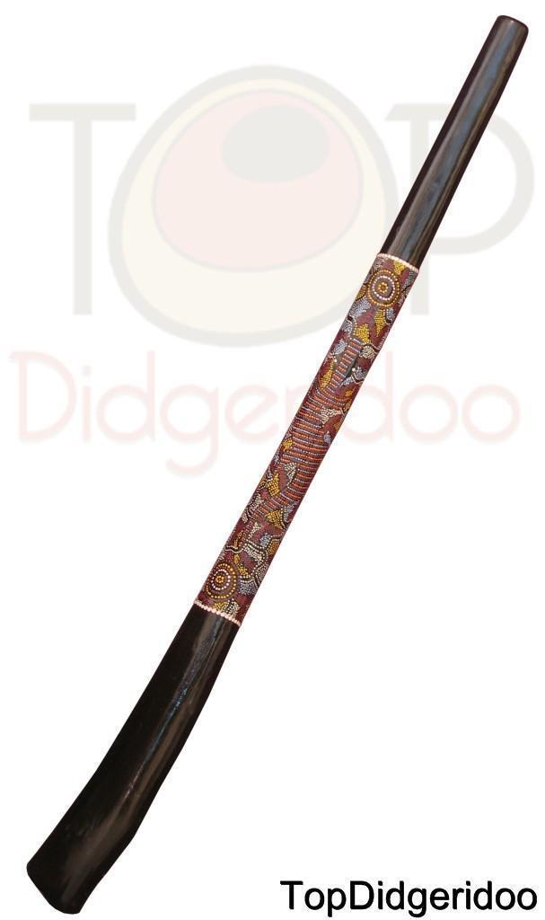 Aborigin DIDGERIDOO Termite Hollowed 51  (130cm) Dot-Painted +BAG+Beeswax+Shipng