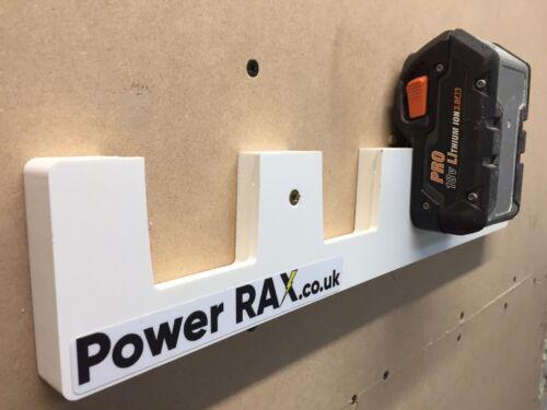 Aeg 18v batterie rack 2-6 emplacements outil de racks pour montage des piles à van