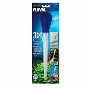 "11"" Fish Tank Aquarium Cleaner Fluval 3-in-1 Waste Remover/feeder 28cm"
