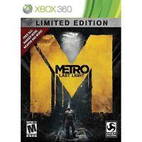 Xbox 360 Spiel Metro Last Light Limited Edition 3 Neu