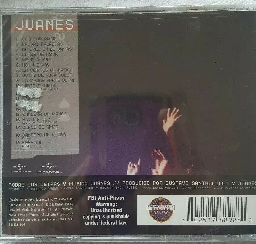 La Vida Es Un Ratico: En Vivo by Juanes (CD, Nov-2008, Universal Music  Latino)