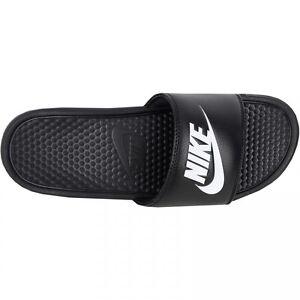 Nike Slide Sandal for Men Black and White Sizes 7 to 15