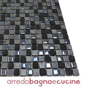 Mosaico greca ardesia 30x30 ceramica vetro marmo pietra bagno cucina bricolage ebay - Mosaico vetro bagno ...