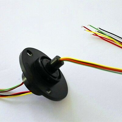 300Rpm Capsule Slip Ring 6 Circuits 6 Wires*2A 22mm AC240V Test Equipment