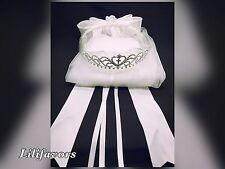 New Bridal flower Girl 1st Communion tiara crown white Veil Primera Comunión