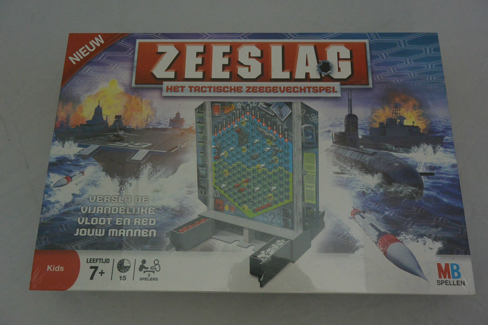 Nuovo ZEESLAG Het Tactische Dutch Battle Strategy Board Game MB Hasbro Toy