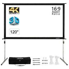 120 4k Projector Screen Portable Fast Folding Outdoor Movie Theater Projection