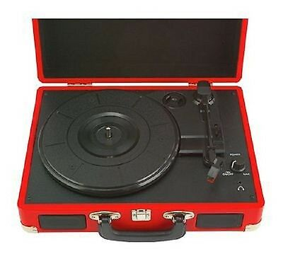 Bush Classic record Player/ Turntable In Brown Leather Case PHK-M41 RRP £43.99