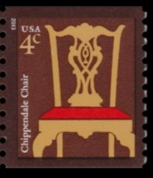 2013 4c Chippendale Chair, Coil Scott 3761a Mint F/VF N