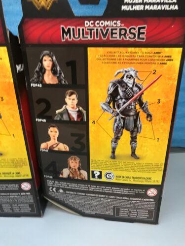 "WONDER WOMAN 6/"" Action Figure BAF ARES Set. DC Multiverse Lot Of 5"