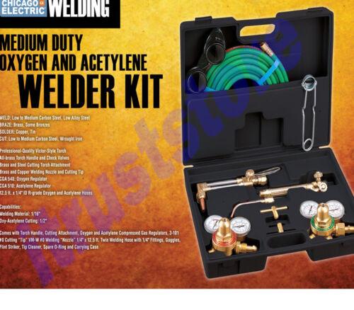 OXY OXYGEN ACETYLENE GAS WELDING WELD CUTTING WELDER TORCH TOOL GAUGE SET KIT