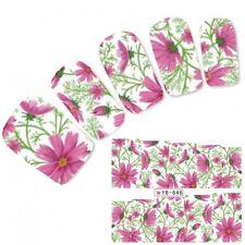 Tattoo Nail Art Flower Aufkleber Blumen Pink Water Decall Neu!